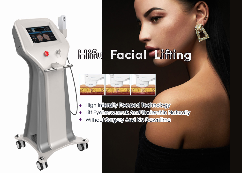 Ultrasound Intensive Anti Aging HIFU Facelift Machine Iso13485 Approved